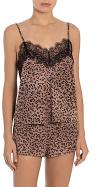 Midnight Bakery Leopard Print Knit Cami & Shorts Sleep Set