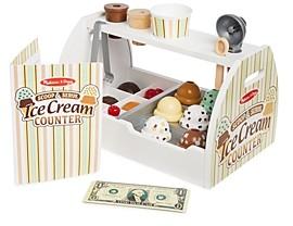 Melissa & Doug Scoop & Serve Ice Cream Counter Play Set - Ages 3+