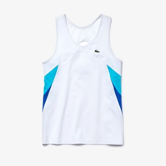 Lacoste Womens SPORT Colorblock Performance Ultra Dry Tank Top