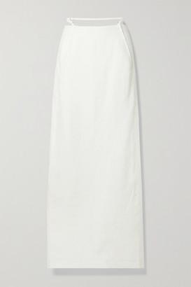 Jacquemus Novio Cutout Linen-jacquard Maxi Skirt - White