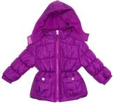 Pink Platinum Purple Floral Puffer Jacket - Infant Toddler & Girls