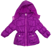 Pink Platinum Purple Floral Puffer Jacket - Toddler & Girls