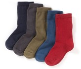 La Redoute Collections Pack of 5 Pairs of Plain Ankle Socks