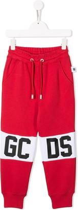 Gcds Kids Logo Panelled Jogging Trousers