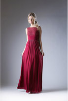 Unique Vintage Burgundy Red Ruched Lace Special Occasion Dress