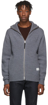 Tiger of Sweden Grey Nyman Zip-Up Sweater