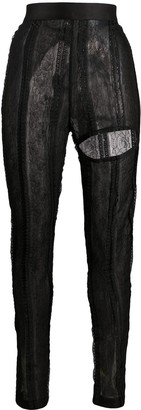 Ann Demeulemeester Ignota lace trousers