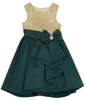 Rare Editions Toddler Girl Embroidered Bodice With Hi-Low Skirt