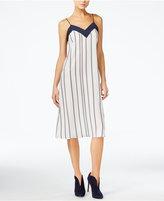 Armani Exchange Striped Slip Dress