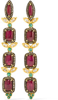 Amrapali 18-karat Gold Multi-stone Earrings - one size