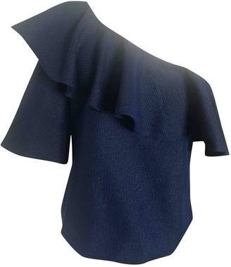 Paper London Blue Cotton Top for Women