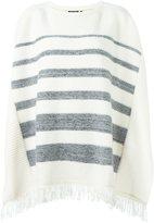 Woolrich striped poncho