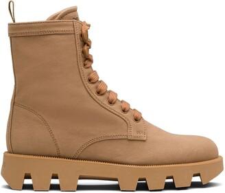 Prada Denim Ankle Boots