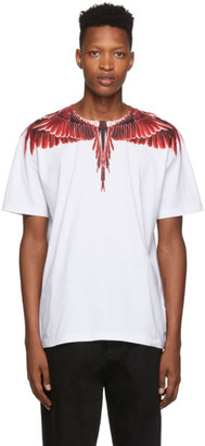 Marcelo Burlon County of Milan White Red Ghost Wings T-Shirt