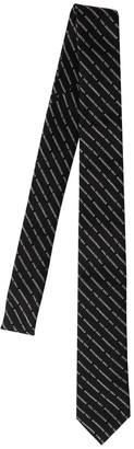 DSQUARED2 Diagonal Logo Jacquard Silk Tie
