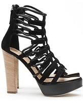 Gladiator Platform Sandals: Black
