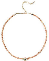 Jacquie Aiche Bolo Nude Leather Pavé Eye Choker