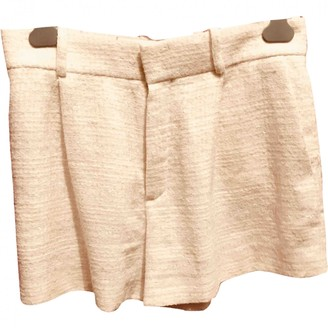 Chloé White Tweed Shorts for Women