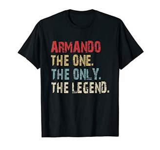 The One Mens ARMANDO The Only The Legend Vintage Name Tee T-Shirt