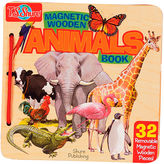 Asstd National Brand Animals Wooden Magnetic Activity Book