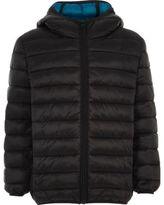 River Island Boys black puffer coat