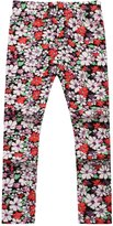 Richie House Little Girls Light Flowers Stretch Pants