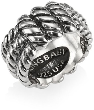 King Baby Studio Sterling Silver Monkey Knot Band Ring