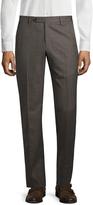 Zanella Men's Wool Checkered Parker Trousers