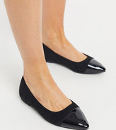 Simply Be Wide Fit Simply Be ballerina flat shoe in wide fit in black