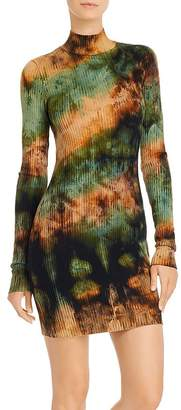 Cotton Citizen Ibiza Tie-Dye Rib-Knit Dress