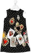 Dolce & Gabbana card print dress
