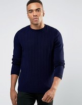 Asos Cable Sweater in Navy