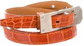 Hermes Crocodile Skinny Belt