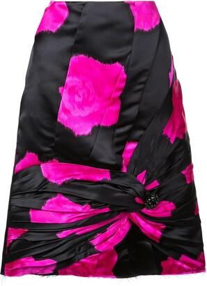 Calvin Klein knot detail A-line skirt