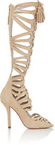 Alice + Olivia Alice & Olivia ALICE & OLIVIA WOMEN'S NAOMI SUEDE GLADIATOR SANDALS-NUDE SIZE 6.5