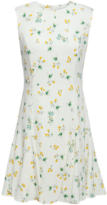 Racil Lana Floral-print Stretch-cady Mini Dress