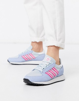 adidas Forest Grove sneakers in blue and pink