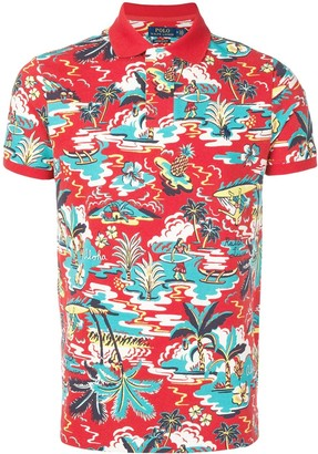 Polo Ralph Lauren hawaiian print polo shirt