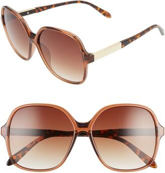 BP 59mm Metal Detail Square Sunglasses