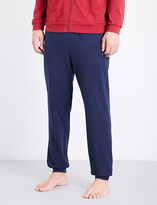 BOSS Logo-embroidered stretch-cotton lounge trousers
