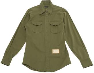 DSQUARED2 Green Cotton Shirts