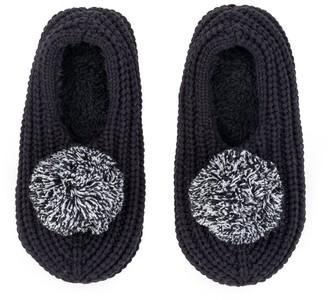Verloop Pommed Rib Slippers Black M/L