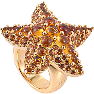 Pomellato 18K Rose Gold Quartz Starfish Ring