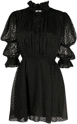 Philosophy di Lorenzo Serafini Puff-Sleeved Fil Coupe Mini Dress