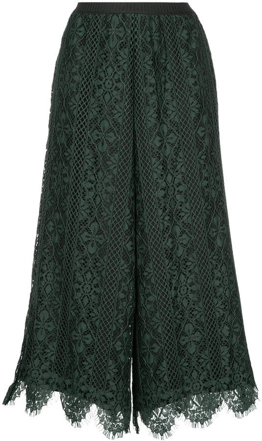 Antonio Marras lace high waisted culottes