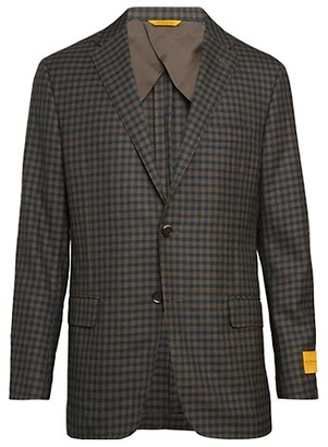 Hickey Freeman Check Wool Sportcoat