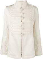 Ermanno Scervino tonal military jacket - women - Cotton/Linen/Flax/Viscose - 40