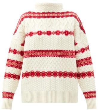 Altuzarra Fair Isle Cable-knit Wool Sweater - Ivory Multi