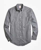 Brooks Brothers Non-Iron Milano Fit Herringbone Tattersall Sport Shirt