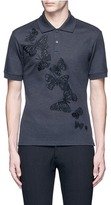 Alexander McQueen Butterfly embroidered polo shirt